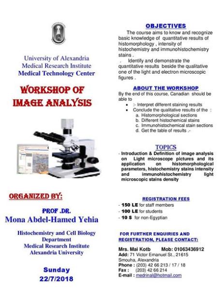 Workshop of Image Analysis