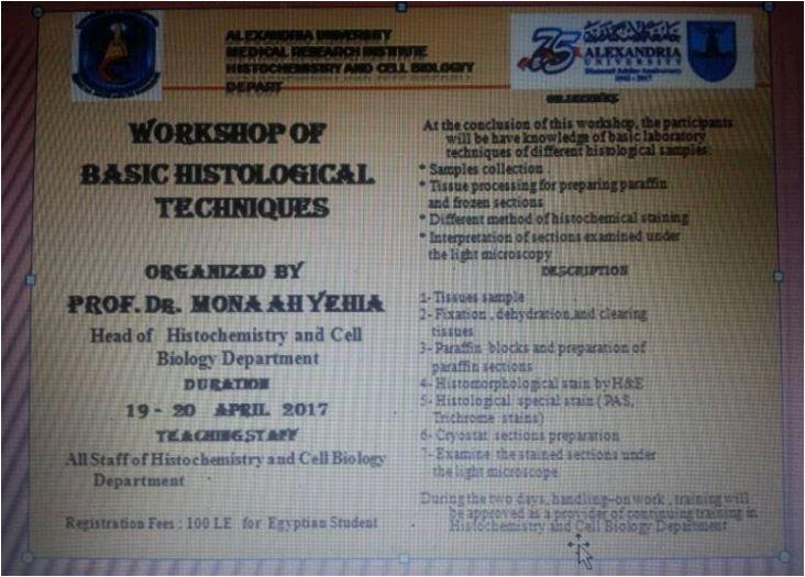 Workshop of Basic Histological Technique